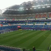 Photo taken at Daejeon Worldcup Stadium by Rula H. on 5/23/2017