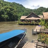 Photo taken at River Kwai Jungle Raft Floating Hotel Kanchanaburi by Christian G. on 8/19/2017