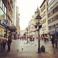 Photo taken at Knez Mihailova by Eugene S. on 3/2/2013