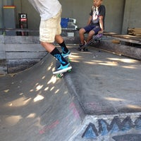 Photo taken at Bowl Globe Skate Park by Marie on 5/18/2014