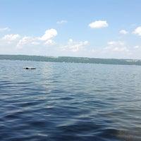 Photo taken at Cayuga Lake by Ezmerelda77 H. on 7/15/2013