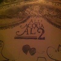 Das Foto wurde bei Acqua Al 2 von Alaina am 12/2/2012 aufgenommen