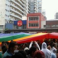 Photo taken at Parada de Ônibus Pedro Taques by André F. on 6/2/2013