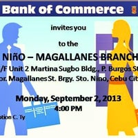 Photo taken at Bank of Commerce - Cebu Sto. Niño-Magallanes Branch by 廣力 鈦. on 9/25/2013