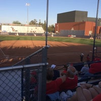 Photo taken at Rita Hillenbrand Memorial Stadium by Hannah on 5/17/2014
