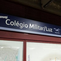 Photo taken at Metro Colégio Militar / Luz [AZ] by Daniel L. on 3/12/2013