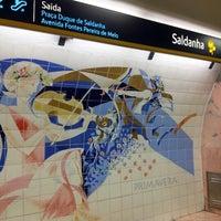 Photo taken at Metro Saldanha [AM,VM] by Daniel L. on 12/3/2012