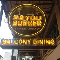 Photo taken at Bayou Burger & Sports Company by Steven on 10/9/2012