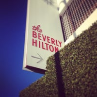 Photo taken at The Beverly Hilton by Ross O Matic on 1/13/2013