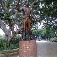 Photo taken at Governor Macquarie Statue by Virginia G. on 5/11/2013