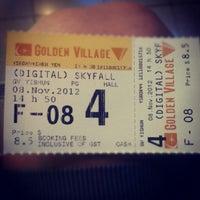 Photo taken at Golden Village by Elijah T. on 11/8/2012
