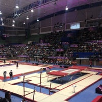 Photo taken at Complejo Nissan de Gimnasia by Luis P. on 11/18/2012