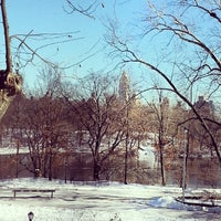 Photo taken at Central Park - East Drive by Daniel Cardoso L. on 1/26/2014