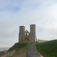 Photo taken at Reculver Towers and Roman Fort by Gökçe R. on 12/1/2016