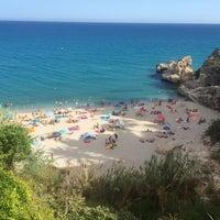 Photo taken at Playa Carebeillo by Gökçe R. on 8/17/2016