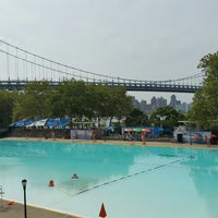 Photo taken at Astoria Park Pool by Anthony P. on 8/28/2017