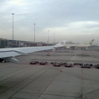Photo taken at Etihad Flight 101 by Sujay S. on 3/24/2013