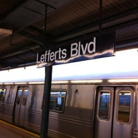 Photo taken at MTA Subway - Ozone Park/Lefferts Blvd (A) by Barbara on 10/8/2012