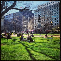 Photo taken at Farragut Square by James on 4/5/2013