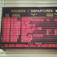 Photo taken at South Bus Station of Madrid by Ana G. on 10/5/2012