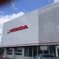 Photo taken at Honda Motors 104'km MKAD by Griha on 5/14/2013