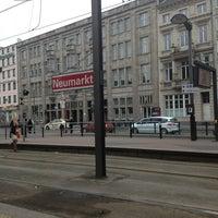 Photo taken at Neumarkt by Olga M. on 3/11/2013