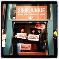 Photo taken at Soup Junkie by Annie L. on 10/31/2012