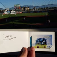 Photo taken at Brent Brown Ballpark by Adam W. on 7/24/2015