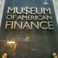 Photo taken at Museum of American Finance by DrWho131 M. on 1/23/2017