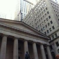 Photo taken at Wall Street by Svetlana on 4/27/2013