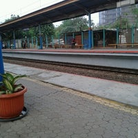 Photo taken at Stasiun Pondok Cina by Aliy N. on 9/24/2012