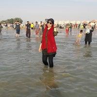 Photo taken at Genaveh Beach by Zahra S. on 3/25/2018