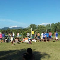 Photo taken at Cancha Voley playa by Joselyn R. on 2/12/2013
