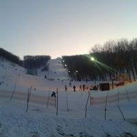 "Photo taken at Лыжная база ""Роща"" by Giv U. on 2/26/2013"
