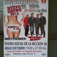 Photo taken at Teatro Social Sección 30 by Rocío L. on 1/11/2013