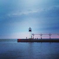 Photo taken at St. Joseph North Pier (at Tiscornia Park) by Robb L. on 5/27/2013