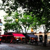 Photo taken at Place du Marché Sainte-Catherine by R A. on 4/29/2013