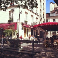 Photo taken at Place du Marché Sainte-Catherine by R A. on 5/2/2013