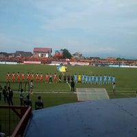 Photo taken at Stadion Krida Rembang by Andita V. on 2/26/2013