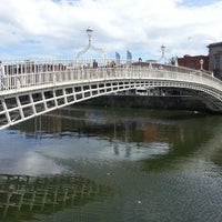 Photo taken at The Ha'penny (Liffey) Bridge by Carlton B. on 7/26/2013