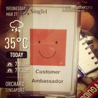 Photo taken at Singtel Shop by Arvin B. on 3/27/2013