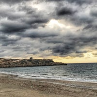 Photo taken at Esentepe Beach by Tansu Y. on 9/25/2017