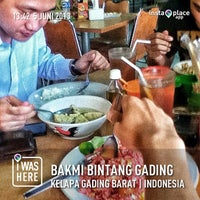 Photo taken at Bakmi Bintang Gading by Bayu B. on 6/5/2013