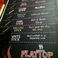 Photo taken at Flat Top Stir-Fry Grill by Stefani on 11/4/2012