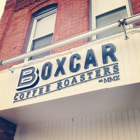 Photo taken at Boxcar Coffee Roasters by Patrick N. on 3/24/2013