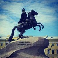 Photo taken at Bronze Horseman by Irene G. on 7/21/2013