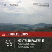 Photo taken at Belvedere Di Montalto Pavese by Mauro B. on 6/15/2013