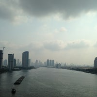 Photo taken at Rama III Bridge by LiBra G. on 3/28/2013
