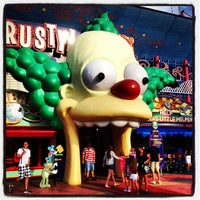 Photo taken at The Simpsons Ride by Christopher G. on 5/13/2013
