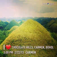 Photo taken at The Chocolate Hills by Jason C. on 2/22/2013